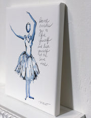 Dance Enables You - Blue Dancer Giclée Print - 1009