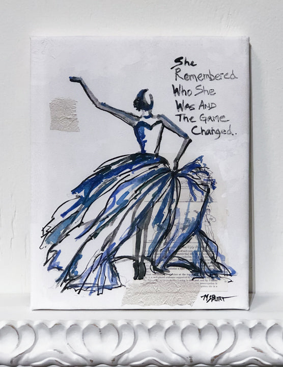 She Remembered - Blue Dancer Giclée Print - 1010