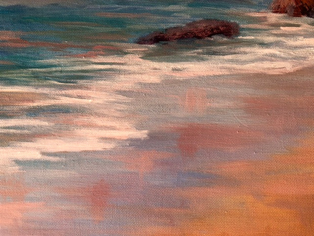 Sunset Reflections - California Seascape Painting - 156