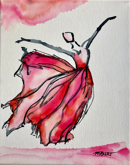 Beautiful Pink Flyer - Dancer Painting 1008