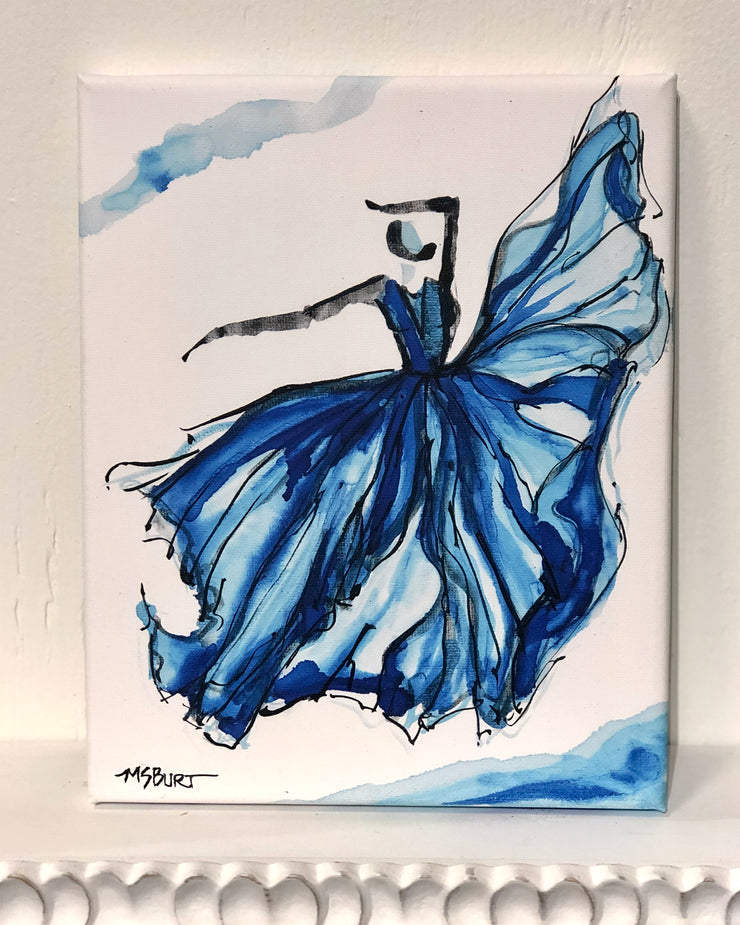 Wonderful Blue - Dancer Giclée Print - 1023