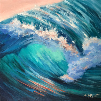 Sunset Glow - Wave Painting 532