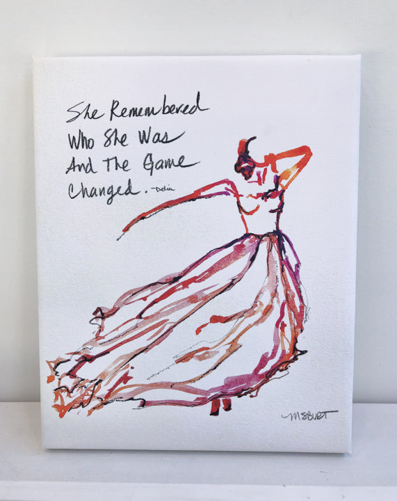She Remembered - Red Dancer Giclée Print - 1015