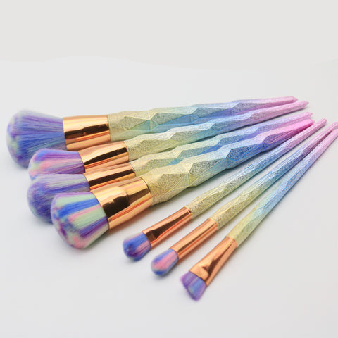 Unicorn Swirl Makeup Brushes - 7Pcs/set, , My Fantasy Co, Queen JourneyA