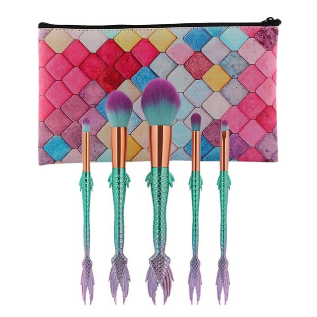 HEY FISH-  BEAUTIFUL MAKE-UP BRUSH SET (MORE STYLES & COLORS), , My Fantasy Co, Queen JourneyA