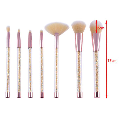 CRYSTAL INFUSED -7 Pcs MAKEUP BRUSH COLLECTION, , My Fantasy Co, Queen JourneyA