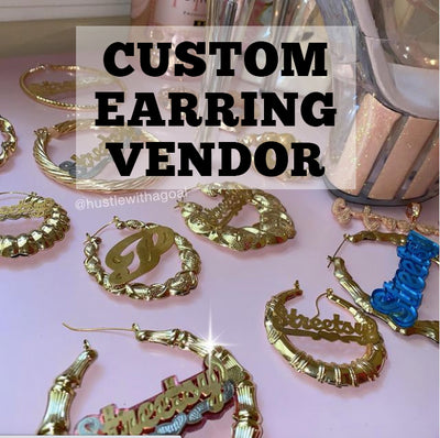 Custom Name Earring Vendor