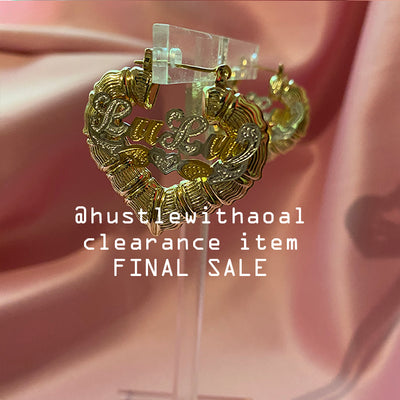 """LuLu"" BABYGIRL BAMBOO EARRINGS 1.2"" (CLEARANCE - FINAL SALE)"