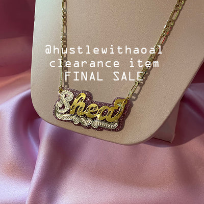 SHEA NAMEPLATE NECKLACE (CLEARANCE - FINAL SALE)