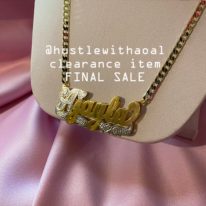 """Ajayla"" NAMEPLATE NECKLACE (CLEARANCE - FINAL SALE)"