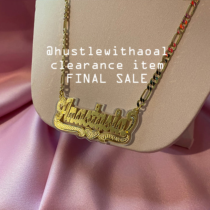 """Anastasia"" NAMEPLATE NECKLACE (CLEARANCE - FINAL SALE)"