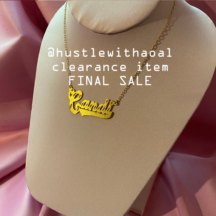 """Candi"" NAMEPLATE NECKLACE (CLEARANCE - FINAL SALE)"