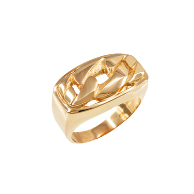 10k Gold Cuban Ring (Unisex)