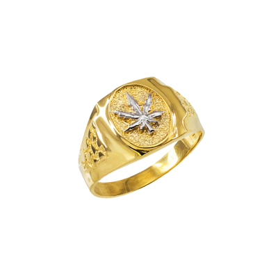 14k Gold Ganja Leaf Ring (Unisex)