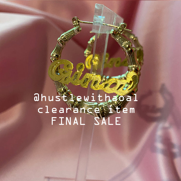 """Gina"" PRINCESS BAMBOO EARRINGS 1.5"" (CLEARANCE - FINAL SALE)"