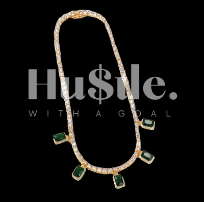 Emerald Love Tennis Chain