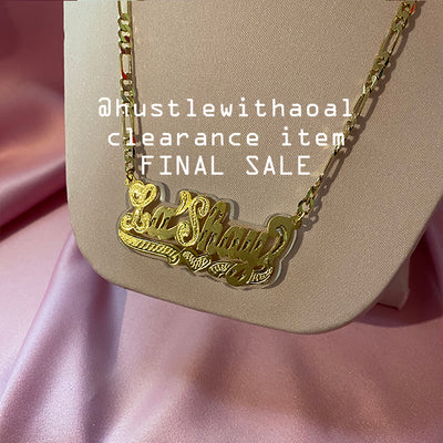 La'Shay NAMEPLATE NECKLACE (CLEARANCE - FINAL SALE)