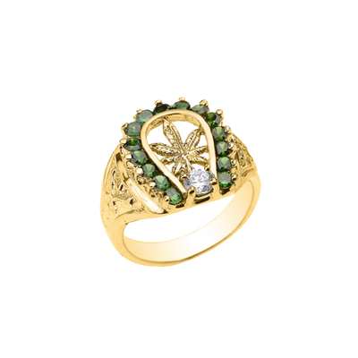 10k Gold Mary Jane Ring (Unisex)
