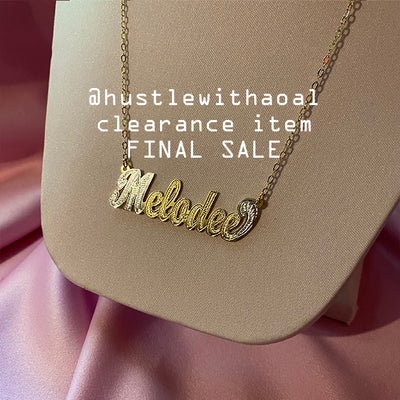 """Melodee"" NAMEPLATE NECKLACE (CLEARANCE - FINAL SALE)"