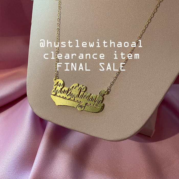 """Ramiyah"" NAMEPLATE NECKLACE (CLEARANCE - FINAL SALE)"