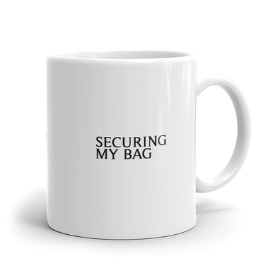 Securing My Bag Mug