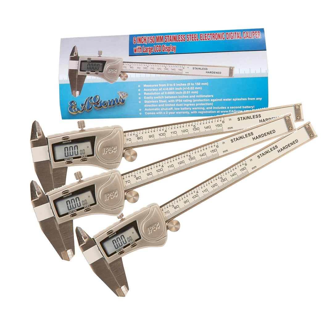 3 Pack IP54 Digital Caliper