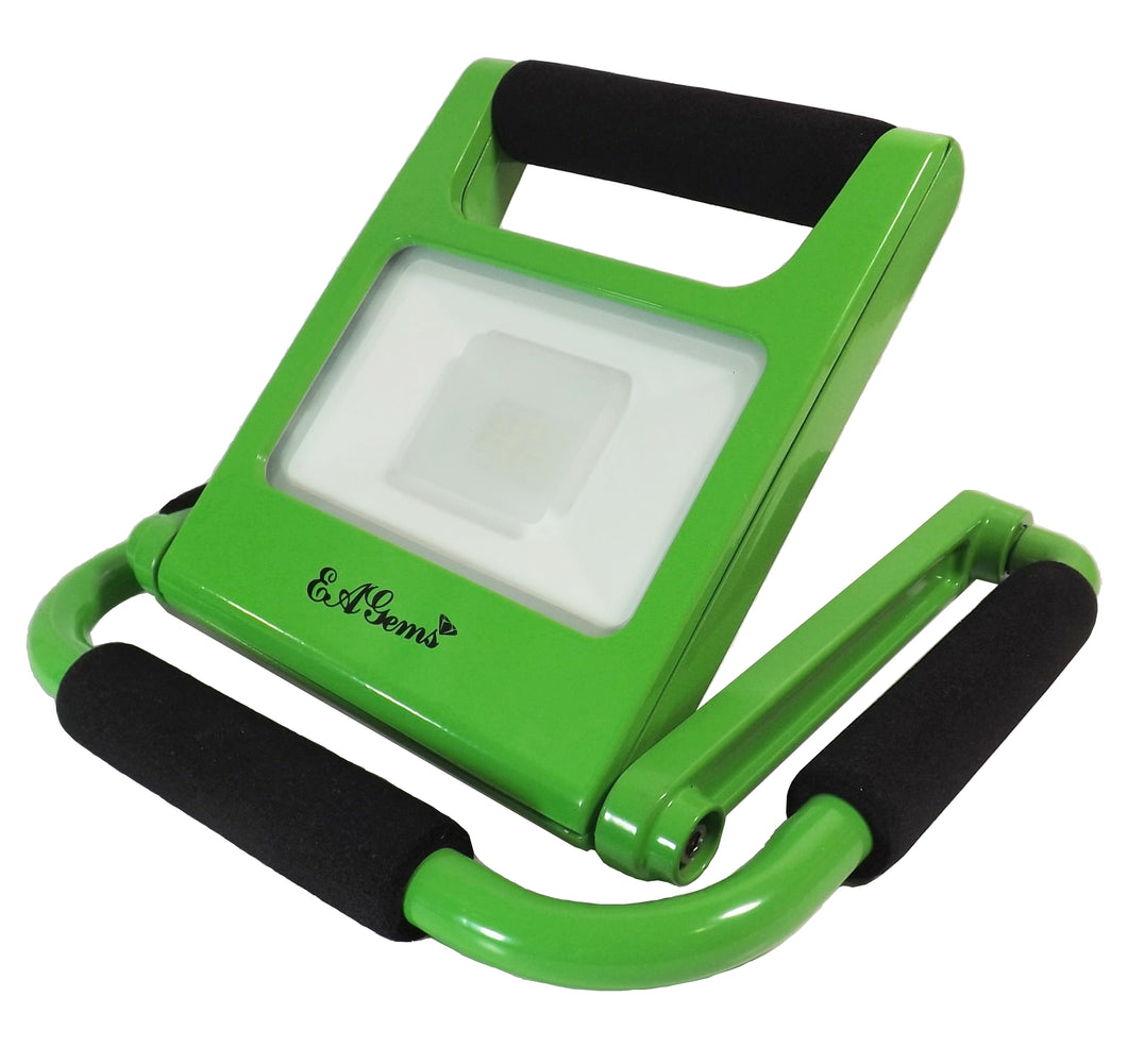 Rechargeable LED Work Light, 10 Watt, Green