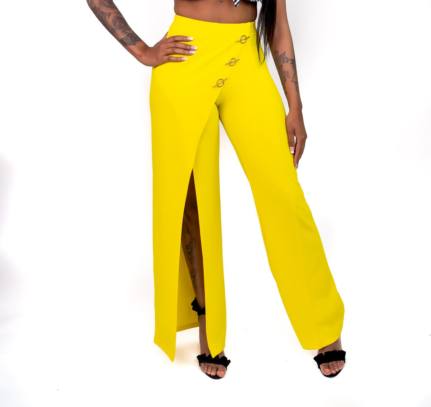 Lemon Drop Flare Pants