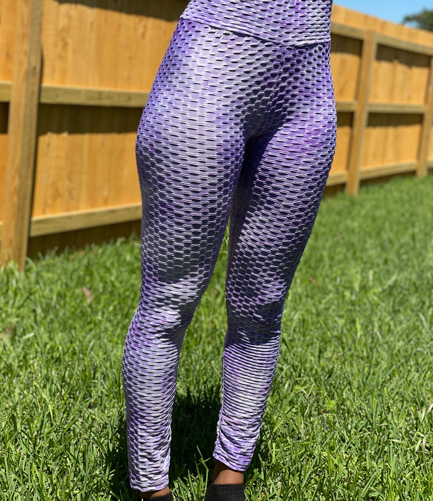 Purple Tie Dye Butt Butt Leggings
