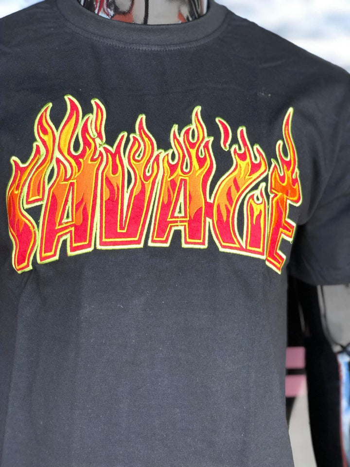 "Men's Black ""Savage"" Graphic Shirt"