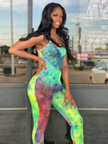 Green Multi Tie Dye Jumpsuit