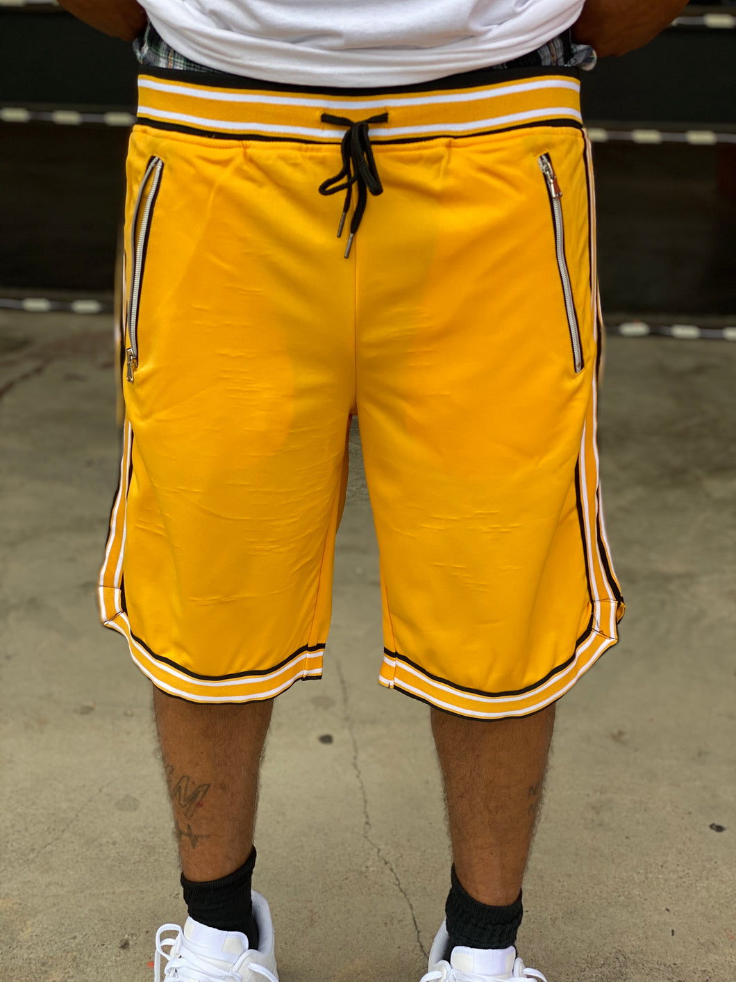 Yellow/Black Taxi Track Shorts