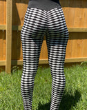 White & Black Two Tone Butt Leggings