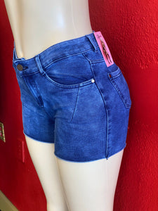Blue Stonewashed Denim Shorts