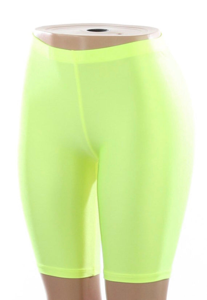 Lime Green Biker Shorts
