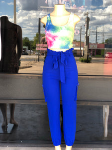 """Feel It"" Royal Blue Jogger Pants"