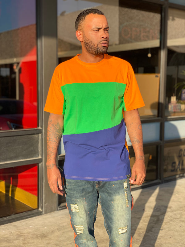 Men's Color Block T- Shirt