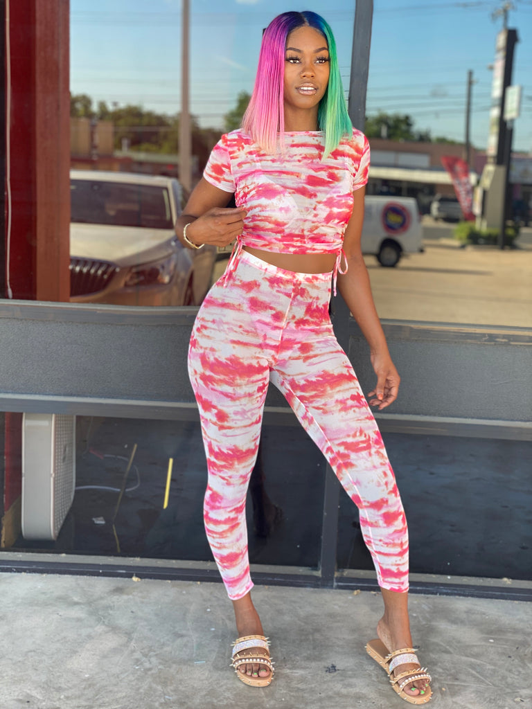 Bubblegum Tie Dye Pants Set