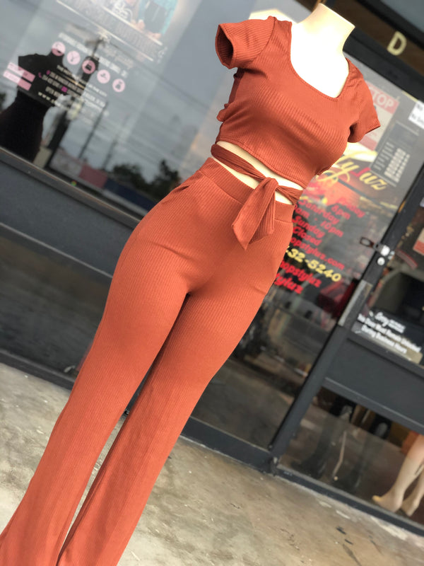 Just Fall In Love Pants Set