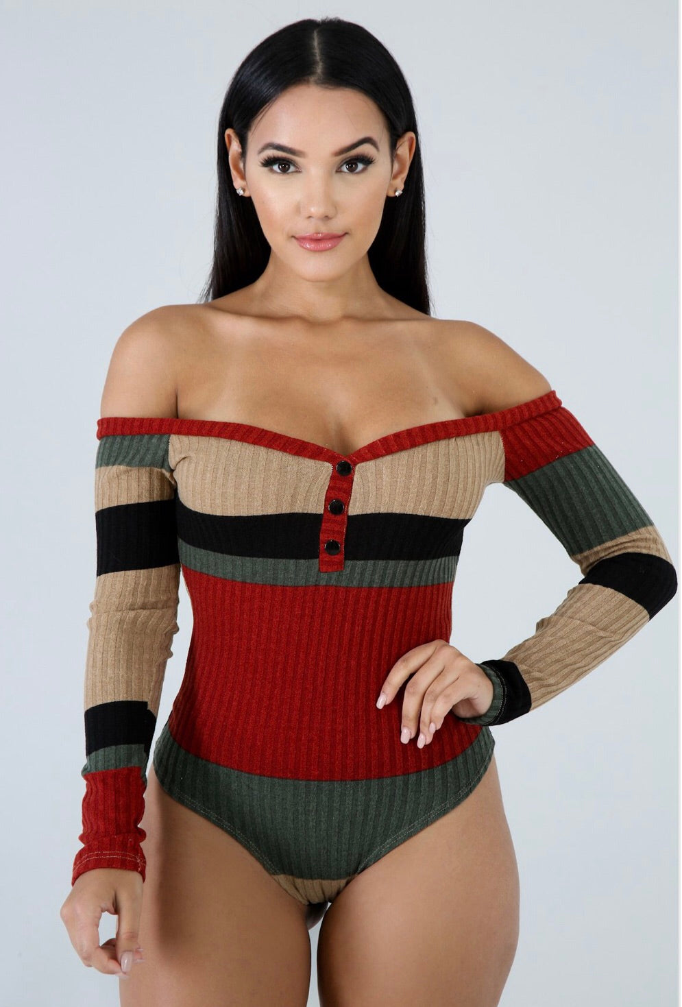 Multi Color Knit Bodysuit