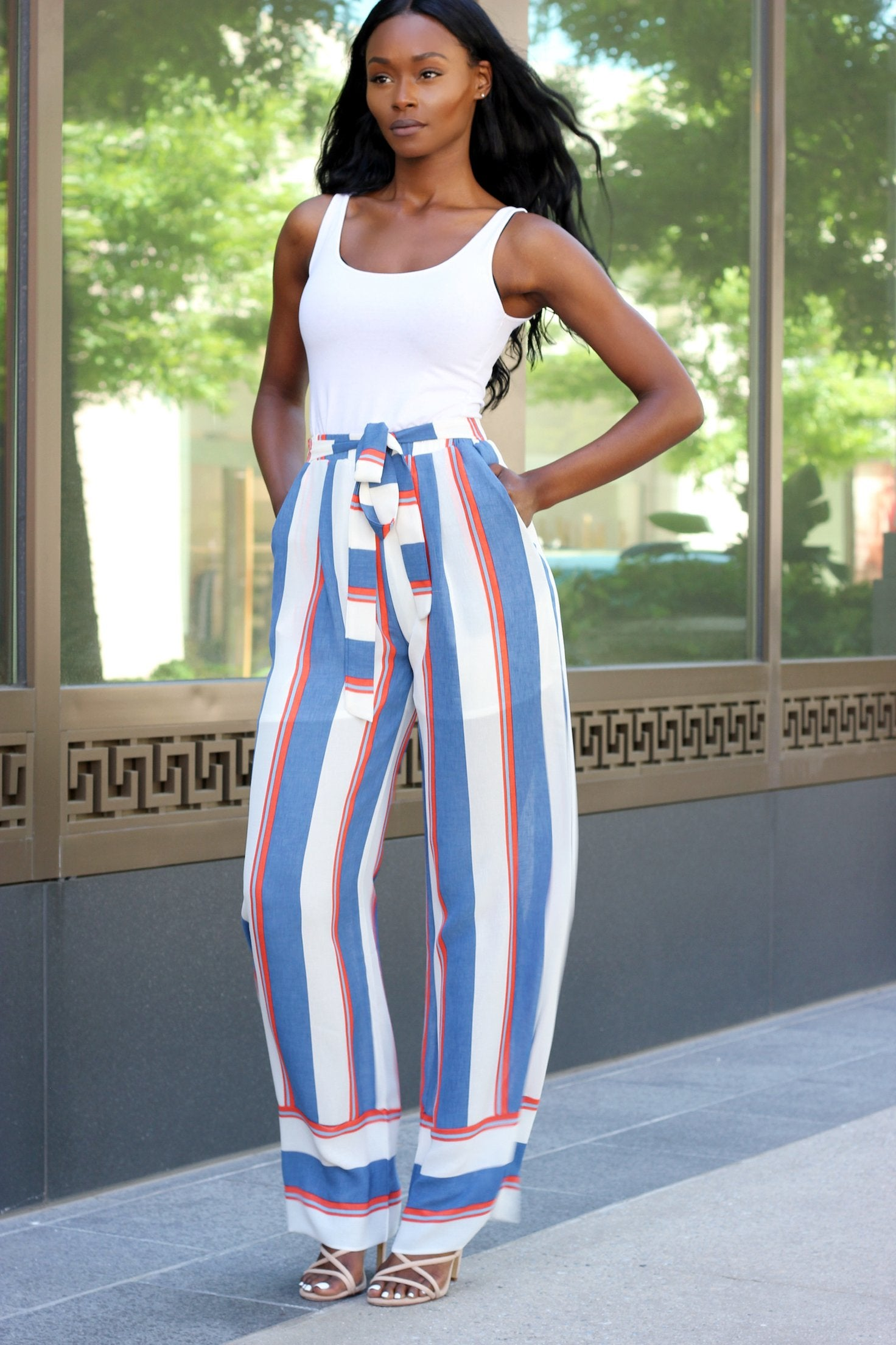 SEEING STRIPES | FLARE PANTS