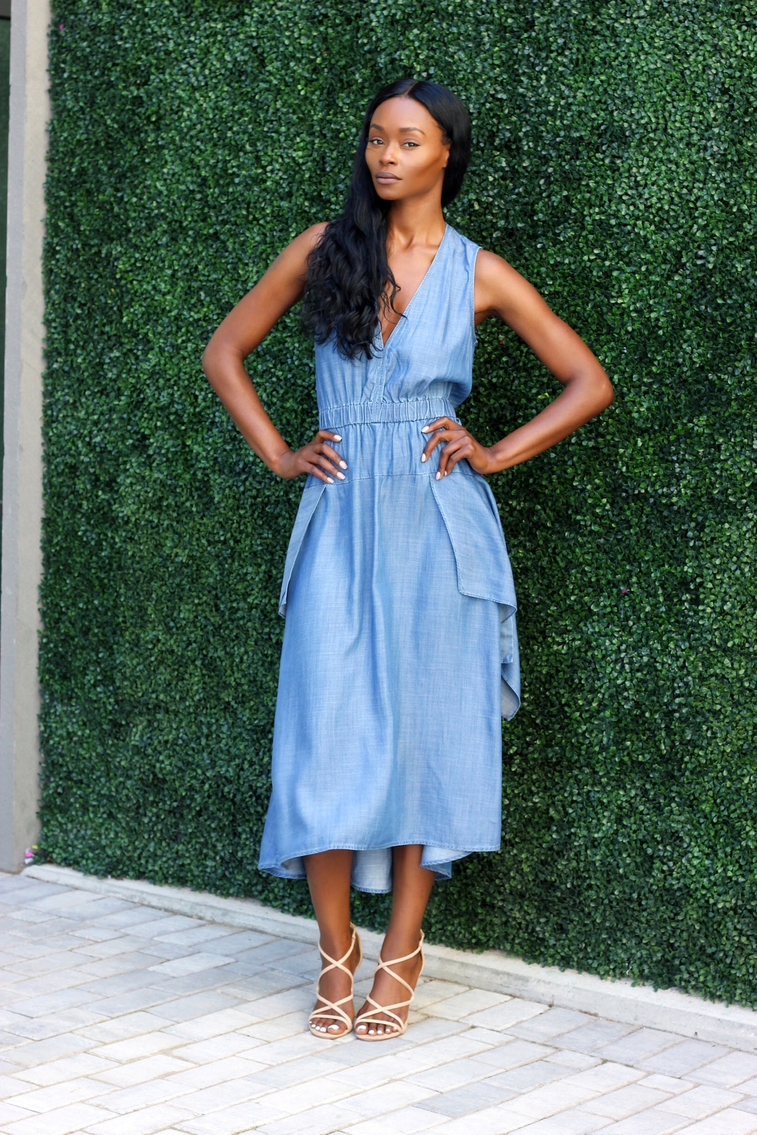 bc535e8c8d CHAMBRAY DENIM DRESS – Laced With Style