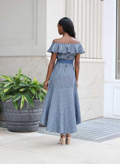 DENIM DOWN | DRESS