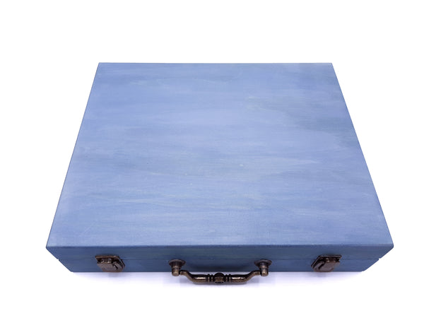 Large Leisure Blue Painted Essential Oils Box