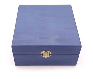 Small Leisure Blue Painted Essential Oils Box