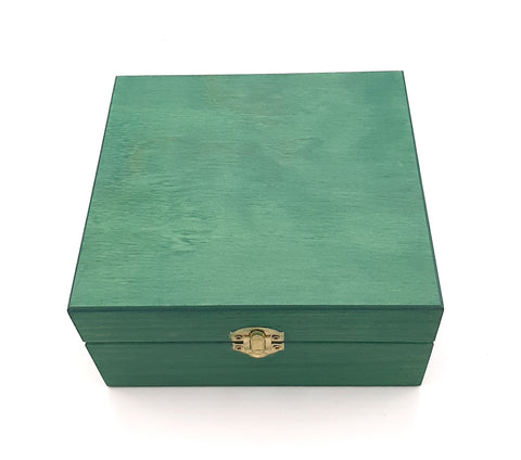 Small Sea Green Painted Essential Oils Box