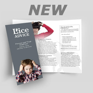 Lice Advice (Pack of 50) Out of stock. More on the way!
