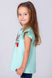 Girl's Turquoise Embroidered Tunic