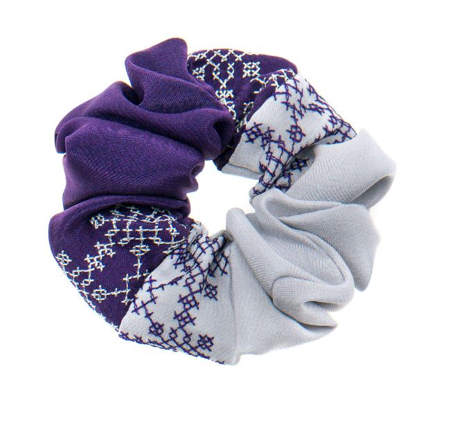 Double Colour Hair Scrunchies- Various Colours