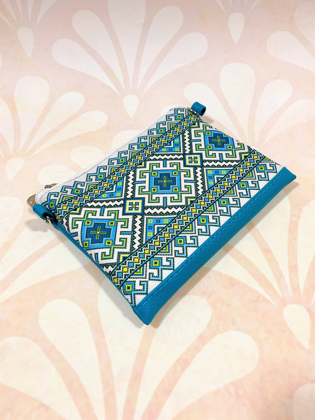 "Girl's Cross-Body Purse ""Blue Embroidery"""